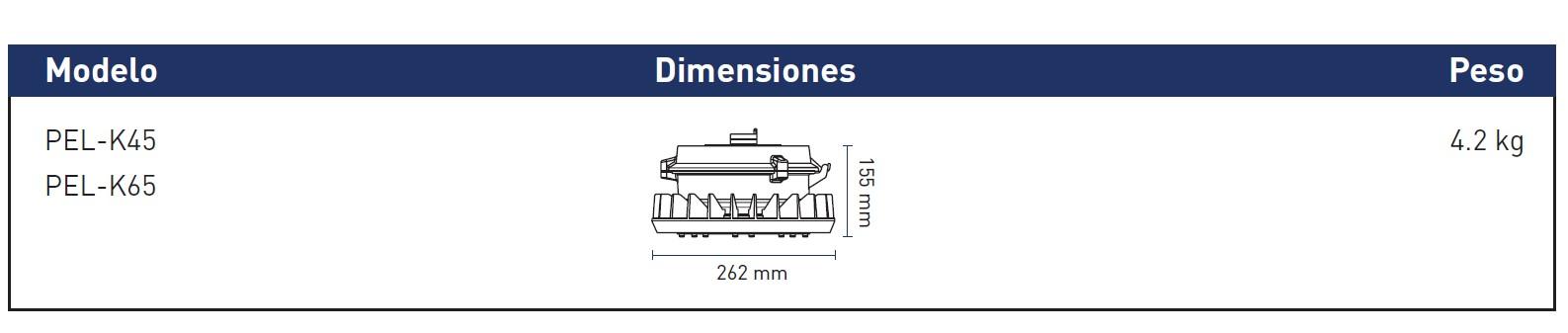 DimensionesPEL-K